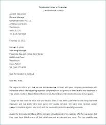 Employment Termination Letters Stunning Sample Termination Of Contract Letter End Employment Template Job