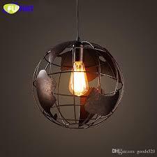 fumat vintage globe pendant light loft industrial hanging light fixture dinning room study bar iron cord pendant lamps instant pendant light schoolhouse