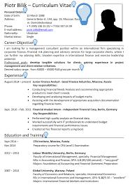 Good Looking Cv Russia Cv Sample Careerprofessor Works