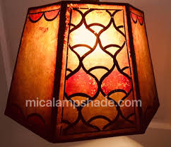 antique mica lampshade