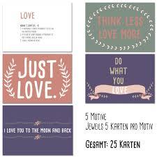 10 Postkarten Love Verschiedene Sprüche Local Urban