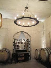 ideas wine garage design round barrel chandelier and personalized wall art for inspiring interior lights