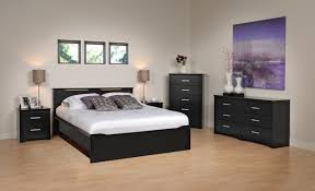 Bedroom Furniture  Modern Style Bedroom Furniture Large Concrete - Black and walnut bedroom furniture