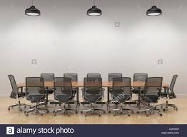 Meeting Room Wall Design An Empty Meeting Room And Conference Table With Big White