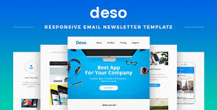 Business Newsletter Templates Free Download Mesmerizing Deso Responsive Email Newsletter Template By MaestoMail ThemeForest