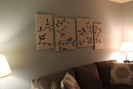 image of diy living room decor canvas