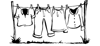 hanging laundry clipart black and white. Simple Hanging Clothes Line Art Throughout Hanging Laundry Clipart Black And White N