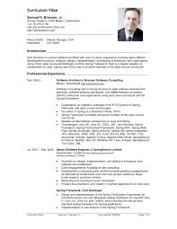 Us Resume Format Example Document And Resume