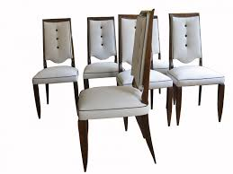 Dining Room  French Art Deco Dining Chairs S Set Of - Dining room chair sets 6