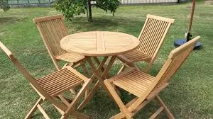 folding wooden outdoor table chairs. wooden outdoor furniture $45 (per 1 table \u0026 4 chairs) folding chairs