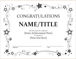 Certificate Borders For Word Classy Congratulations Certificate Template Microsoft Word Top Business