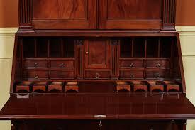 antique mahogany large home office unit. Antique Style Secretary Desk, High End Mahogany Desk Large Home Office Unit S