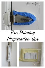 painter s tap around locks and light switches