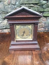 19th century architectural oak cased mantle clock la57375 loveantiques com