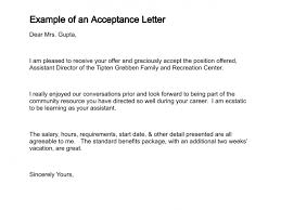 how to write a letter of acceptanceexample of an acceptance letter