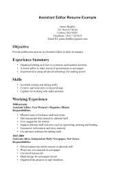Editor Resume Free Resume Example And Writing Download