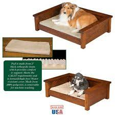 Wooden Orthopedic Dog Beds eBay