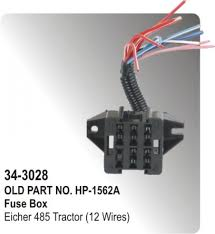 fuse box eicher tractor (12 wires) (hp 34 3028) for parts big boss kubota tractor fuse box fuse box eicher tractor (12 wires) (hp 34 3028)