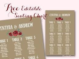 Seating Chart Cards Template Free Free Stylish Wedding Seating Chart Printable Seating Chart