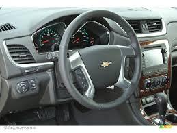 2014 Chevrolet Traverse LTZ Ebony Steering Wheel Photo #85099133 ...