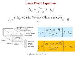 19 laser diode equation light intensity po a