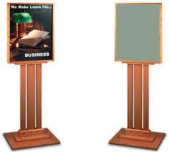 Wooden Menu Display Stands Steel Sign Stand Display Lob Menu Board Hotel Indoor Outdoor Lobby 64