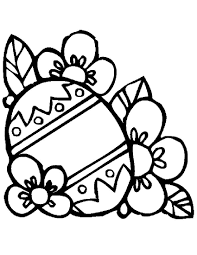Plain Easter Egg Coloring Pages Getcoloringpagescom