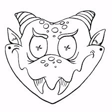Kleurplaten Masker Draak Leuk Voor Kids P3qh13gbe2