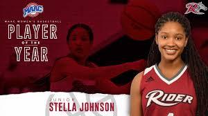 Stella Johnson Named the MAAC Player of the Year - Rider University  Athletics