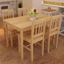 Esszimmergruppe Holz Stühle Essgruppe Esstisch