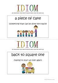 Idiom Anchor Chart English Esl Worksheets