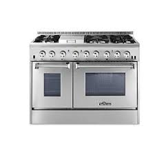 double oven gas range with griddle. Modren Double Image Is Loading ThorKitchenHRD4803U48InDualFuelRange6 On Double Oven Gas Range With Griddle
