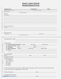 Customer Incident Report Form Template New Best S Of Standard