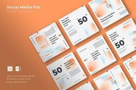 20 Best Social Media Kit Templates Graphics Design Shack