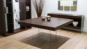dark wood dining room set. Aria Espresso Dark Wood And Glass Square Dining Table Room Set E