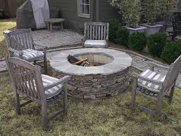 outdoor fire pit kits stone