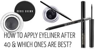 how to apply eyeliner after 40 40plusstyle