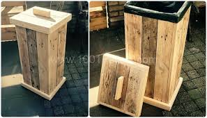 simple wood pallet projects. pallet kitchen garbage simple wood projects a