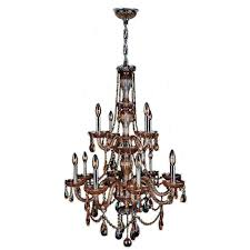 provence collection 12 light polished chrome and amber crystal chandelier