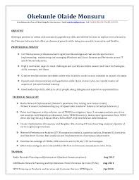 Drive Test Engineer Sample Resume Best RF Optimization Engineer Resumedocx