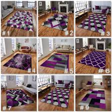 details about modern purple grey rug small extra large living room floor carpet rugs uk