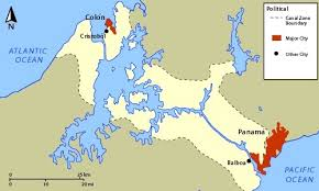 Image result for the future Panama Canal,map