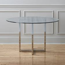 silverado chrome 47 round dining table
