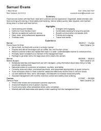 Server Resume Examples Custom Food Server Resume Objective Server Resume Examples Food Service