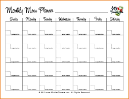 monthly meal planner template monthly menu template 76408550 png scope of work template