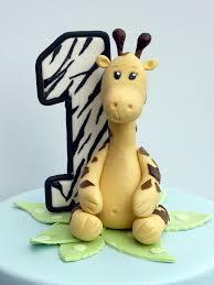 Jungle Animals First Birthday Cake For A Boy A Giraffe A Flickr
