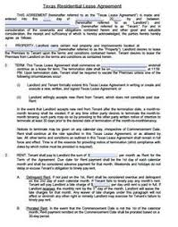 free lease agreement word doc printable sample residential lease agreement template form real