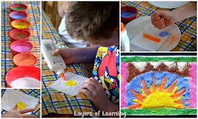 native american sand painting craft layers of learning
