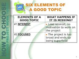 choosing a good research topic sem chapter dr salma chad how to choose a good project work topic