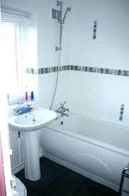 Black And White Border Tiles For Bathroom White Bathroom Border